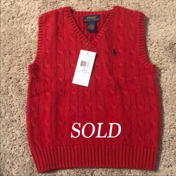Polo by Ralph Lauren Other - SOLD Brand new  red polo vest in time for fall